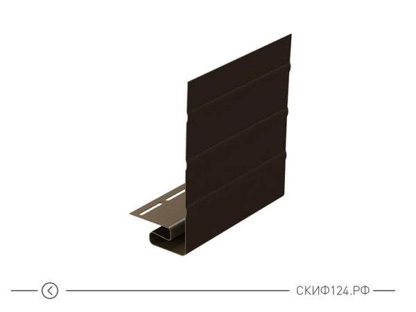 J-фаска для винилового сайдинга, цвет шоколад