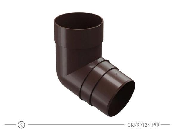 Колено для водоотвода 72 градуса производителя Docke, цвет шоколадный