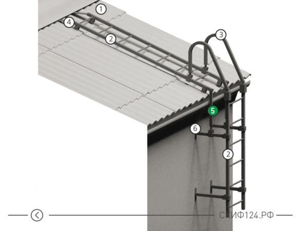 Кронштейн подвесной для лестницы
