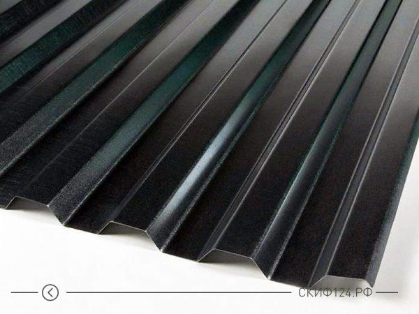 Профилированный лист С21 черного цвета