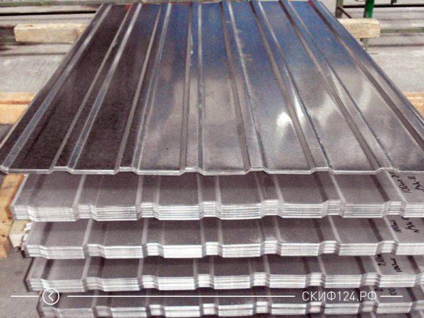 Оцинкованный профилированный лист МП-20, фото на складе производителя