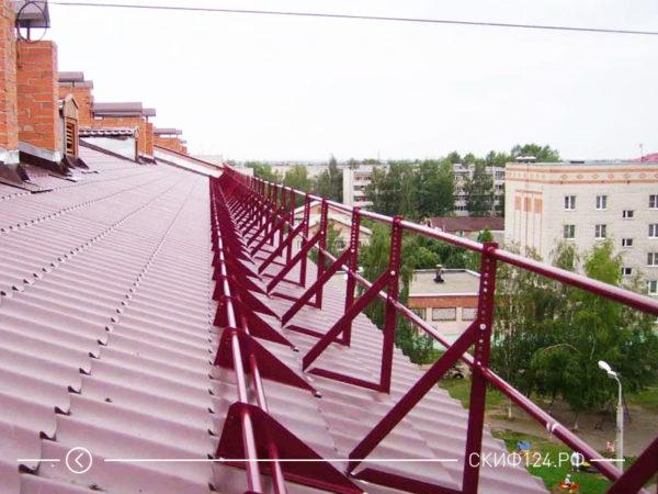 Ограждение на крышу дома или коттеджа
