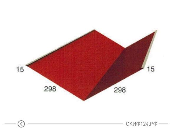 Планка ендовы нижняя для оформления стыков кровли на крыше дома