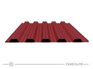 Профилированный лист НС-35 красного цвета с полимерным покрытием