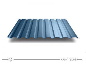 Профилированный лист МП-20 синего цвета с полимерным покрытием