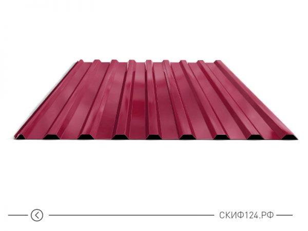 Профилированный лист МП-20 окрашенный в красный цвет
