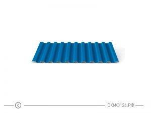 Профилированный лист С-21 синего цвета с полимерным покрытием