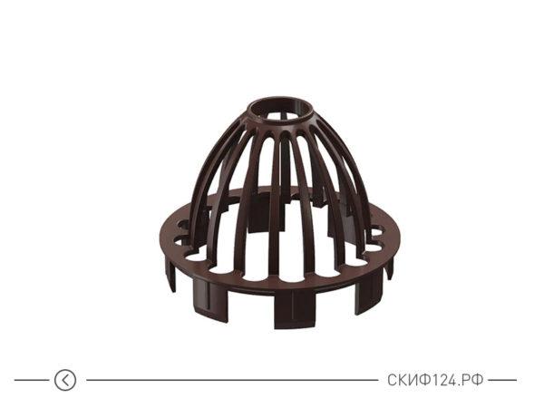 Сетка защитная от мусора для водосточной системы, цвет шоколад
