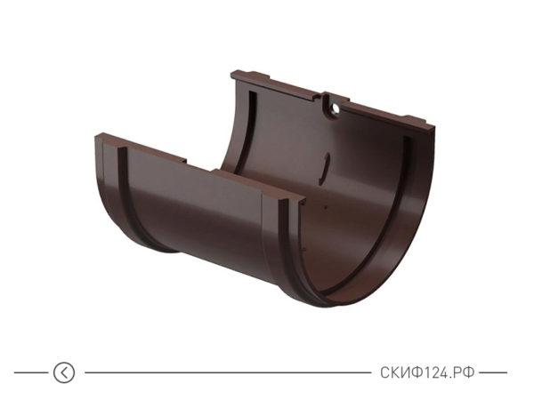 Соединитель желобов для водостока компании Docke, цвет шоколад