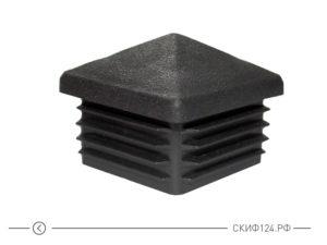 Заглушка на столб 60x60 для забора формы Домик