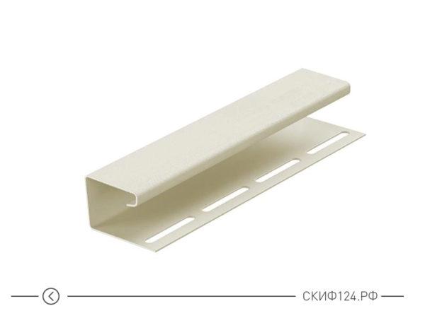J-профиль для винилового сайдинга, цвет пломбир