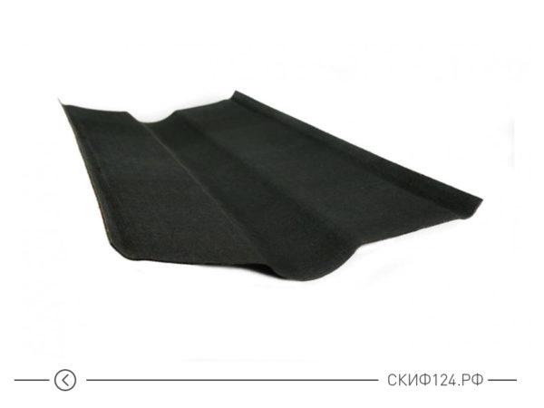 Ендова черного цвета для черепицы Ондулин