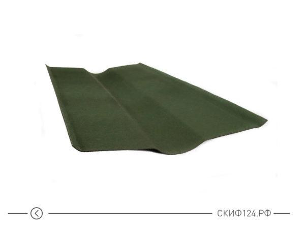 Ендова зеленого цвета для стыков кровли Ондулина