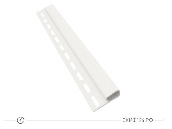 Финишная планка для винилового сайдинга Vinylon цвет белый
