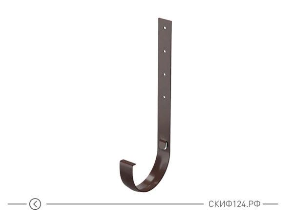 Кронштейн желоба металлический для водосточной системы, цвет шоколадный