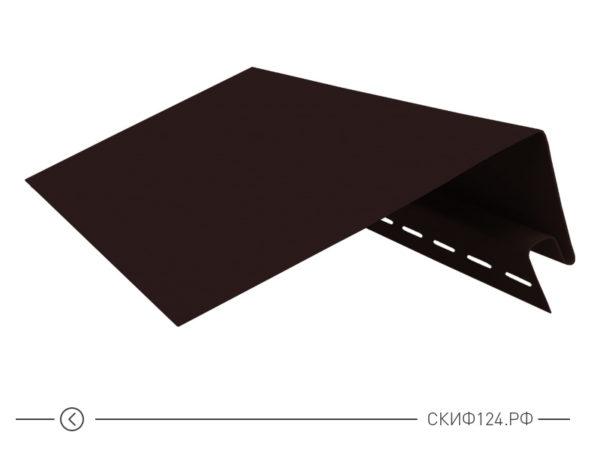Околооконный профиль для винилового сайдинга Vinylon цвет кофе