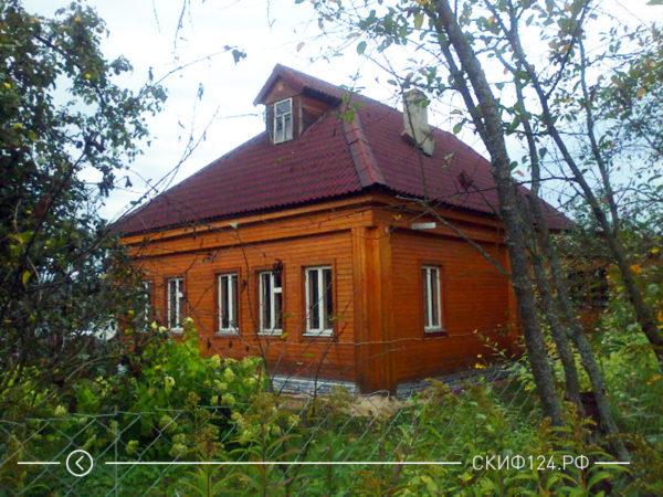 Ондулин коричневый на крыше дома, пример фото черепицы