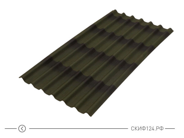 Черепица ондулин зеленый для крыши