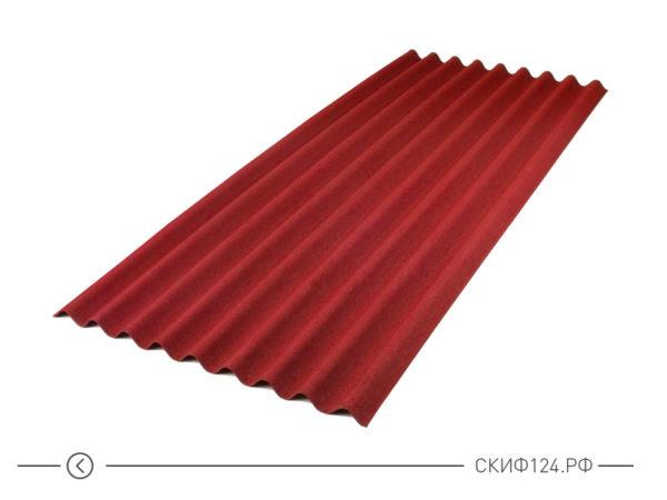 Лист ондулина СМАРТ красного цвета