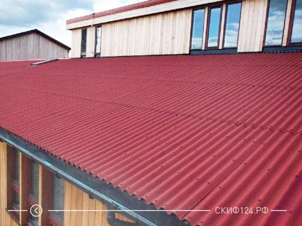 Ондулин смарт на крыше дома, фото внешнего вида