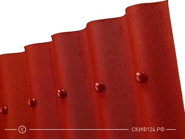 Внешний вид ондулина SMART красного цвета