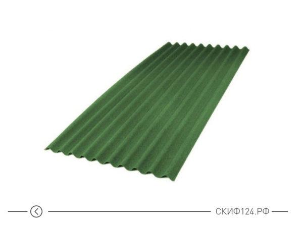 Зеленый лист ондулина SMART