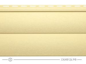 Горизонтальный сайдинг для дома от производителя Vinylon серия Блок Хаус цвет кремовый