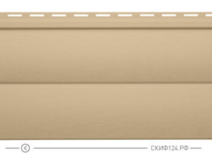 Горизонтальный сайдинг для дома от производителя Vinylon серия Блок Хаус цвет мокко