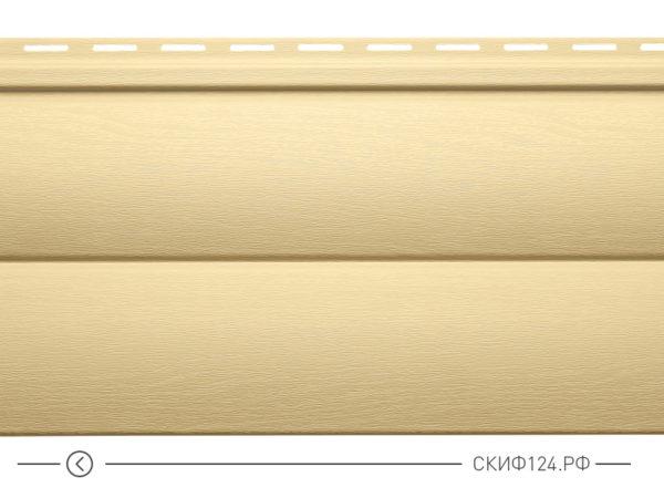 Горизонтальный сайдинг для дома от производителя Vinylon серия Блок Хаус цвет ваниль