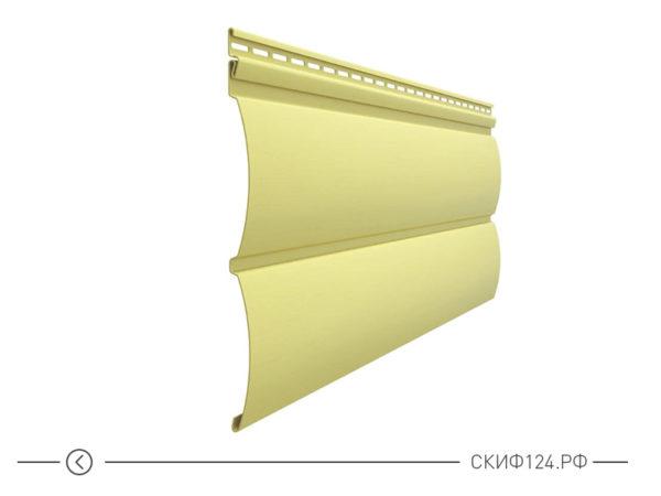 Горизонтальный яркий сайдинг для фасада дома Блок Хаус цвет лимон