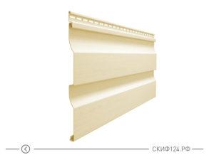 Горизонтальный виниловый сайдинг для отделки фасада дома Корабельный брус цвет банан