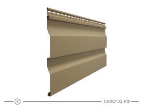 Горизонтальный виниловый сайдинг для отделки фасада дома Корабельный брус цвет капучино
