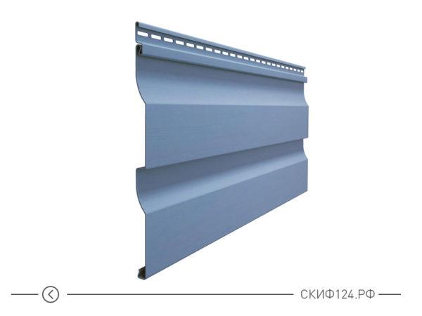 Горизонтальный виниловый сайдинг для отделки фасада дома Корабельный брус цвет слива