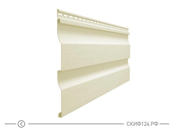 Горизонтальный виниловый сайдинг для отделки фасада дома Корабельный брус цвет сливки