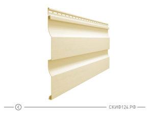 Горизонтальный виниловый сайдинг для отделки фасада дома Simple цвет асти