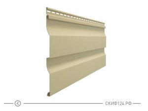 Горизонтальный виниловый сайдинг для отделки фасада дома Simple цвет россо