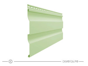 Горизонтальный виниловый сайдинг для отделки фасада дома Simple цвет верде