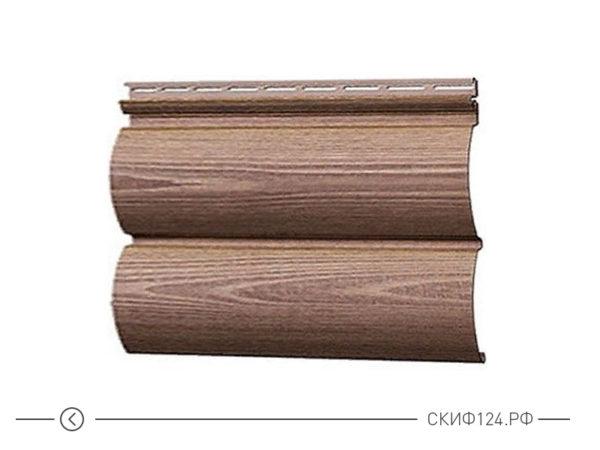 Горизонтальный сайдинг для дома Woodslite под цвет настоящего дерева Рябина
