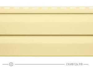 Горизонтальный сайдинг для дома от производителя Vinylon серия Logistik цвет кремовый