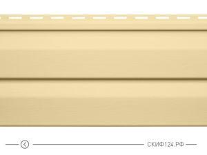 Горизонтальный сайдинг для дома от производителя Vinylon серия Logistik цвет ваниль