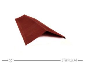 Щипец красного цвета для черепицы Ондулин