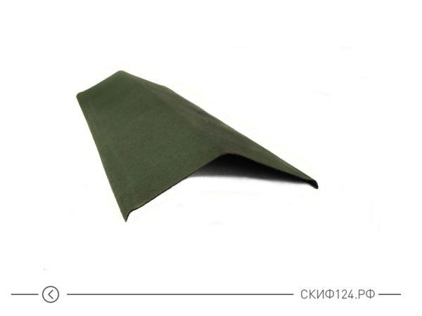 Щипец зеленый для кровли из черепицы Ондулин