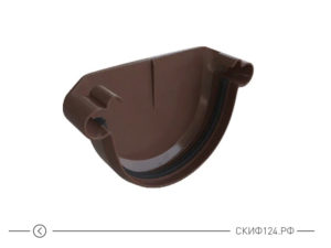 Заглушка для водосточной системы из ПВХ коричневого цвета