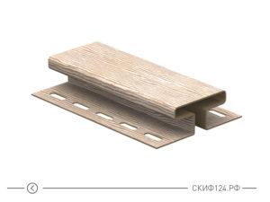 H-планка для винилового сайдинга Timberblock Ю-Пласт, бревно