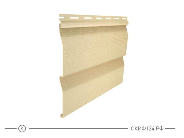 Горизонтальный сайдингкорабельный брус цвет кремовый для фасада здания, имитация доски