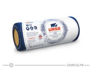 Утеплитель URSA GEO M-11 на основе стекловолокна для утепления крыши, чердака, подвала, бытовки