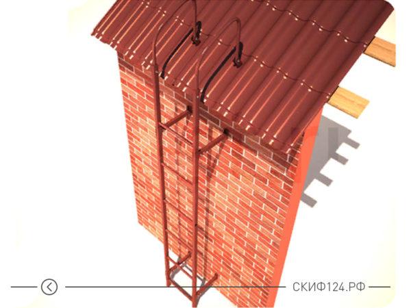 Лестница стеновая Русь для частного дома или коттеджа