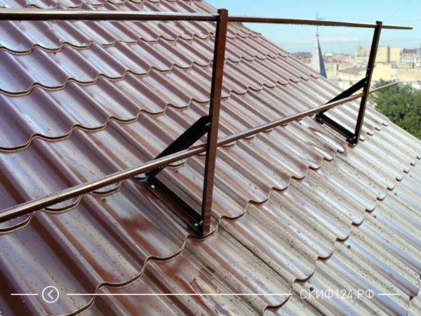 Кровельное ограждение Русь эконом для установки на крышу