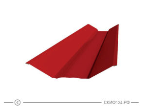 Планка ендовы верхняя для защиты кровли частного дома