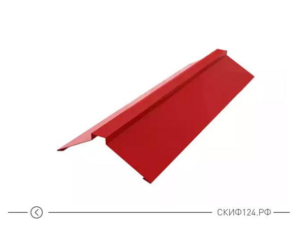 Планка конька плоского на крышу дома из металла